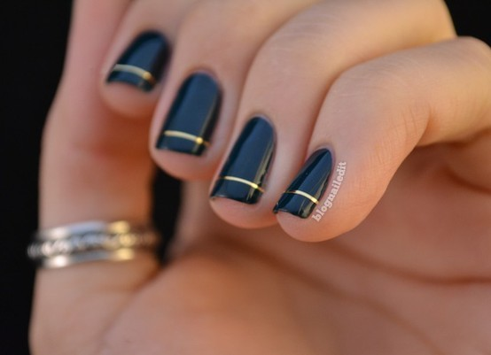 Chic Black and Gold Nail Polish. – Laura C George