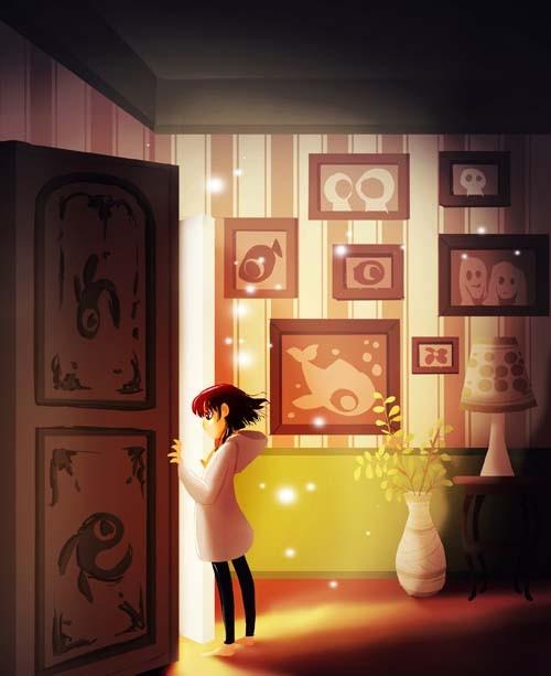 Door by Eunjung June Kim. Digital Illustration. & Closing Doors Opening Doors | Laura C George